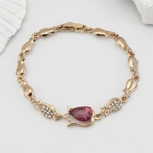 Women Floral Crystal Fashion Bracelet
